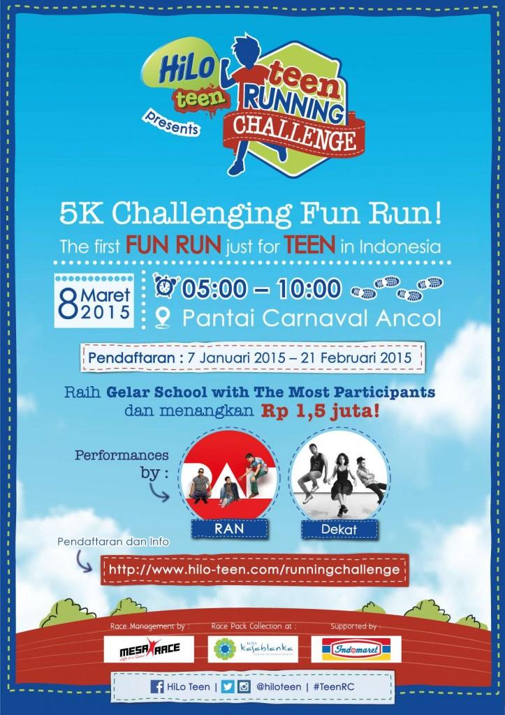 Teen Running Challenge - 8 Maret 2015 - Ancol