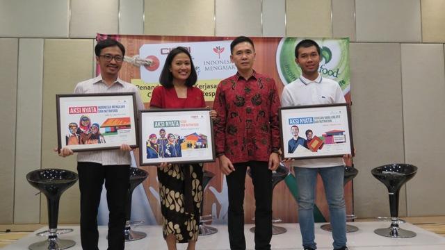 CEO Nutrifood Bersama dengan Partner CSR Nutrifood