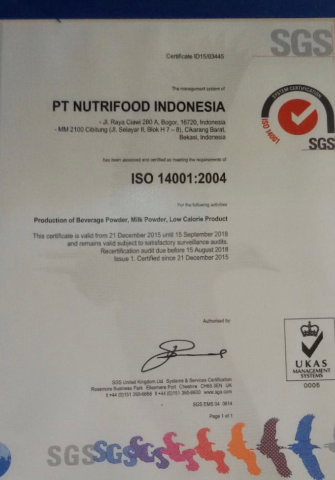 Pencapaian ISO 14001-2004